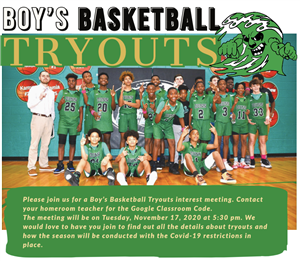 Boy's Basketball Tryouts