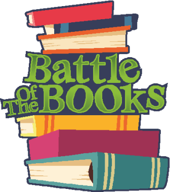 Battle of the Books logo with books