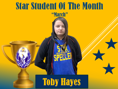 Student of the Month Hayes
