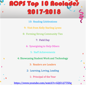 ACPS Top 10 Accolades
