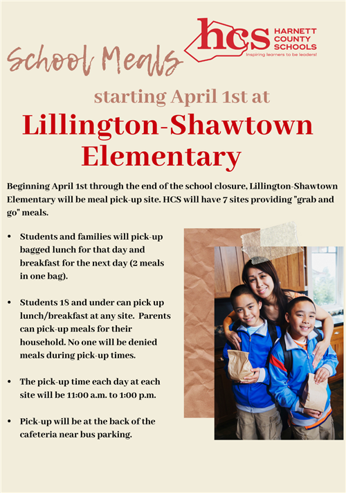 Lillington-Shawtown Elementary School site added to HCS Feeding Plan