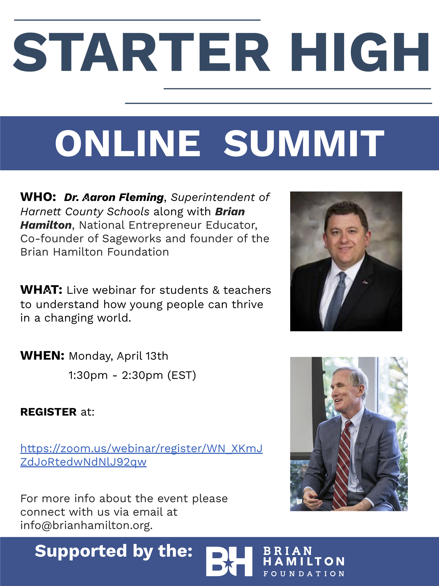 Online Summit with Dr. Aaron L. Fleming, Superintendent of Schools