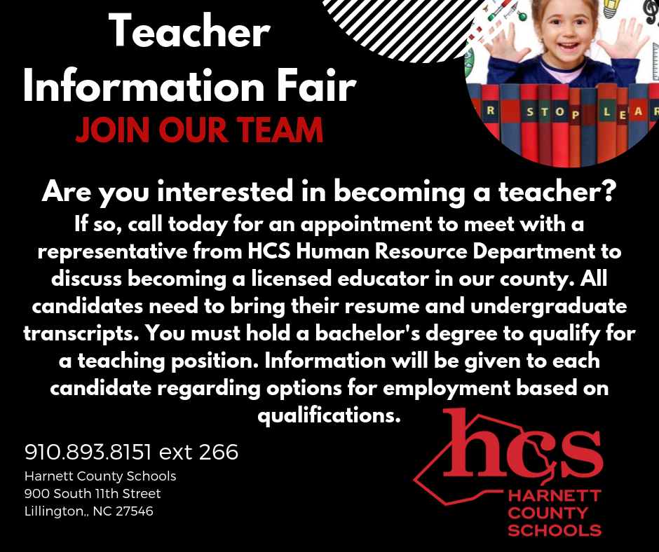 Are you interested in becoming a teacher for Harnett County Schools?