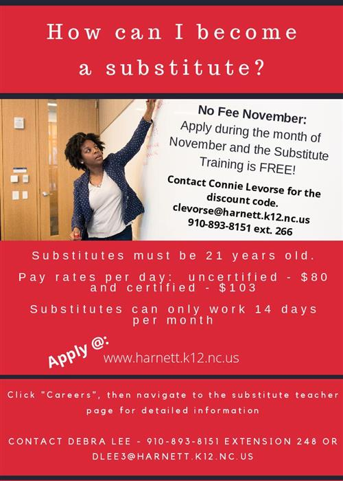 Substitute Training - NO FEE NOVEMBER